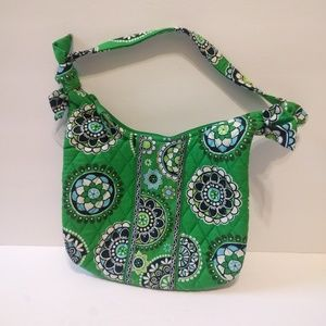 Vera Bradley NWT Olivia Green Cupcakes Quilted Bag